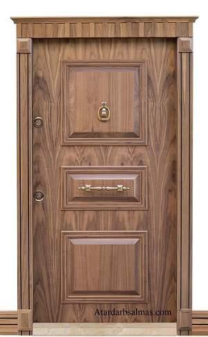 درب ضد سرقت مدل 506 روکش گردو آمریکایی